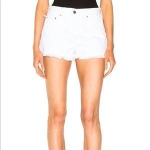 NWT GRLFRND Cindy shorts in Baja white size 28